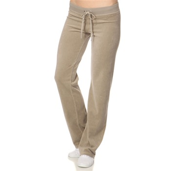 Juicy Couture Taupe Classic Velour Tracksuit Trousers 32