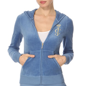 Juicy Couture Cobalt Monogram Velour Hooded Top