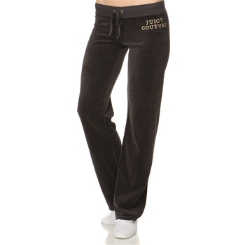 Juicy Couture Charcoal Logo Velour Slim Tracksuit Pants 32