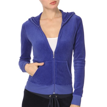 Juicy Couture Electric Blue Velour Hooded Top