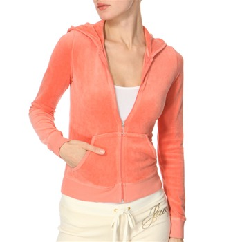 Juicy Couture Mandarin Velour Hooded Top