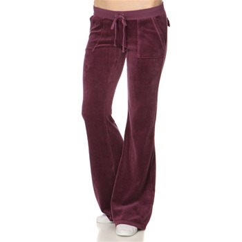 Juicy Couture Blackberry Flared Leg Velour Tracksuit Pants 34