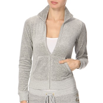 Juicy Couture Grey Marl Velour Track Jacket