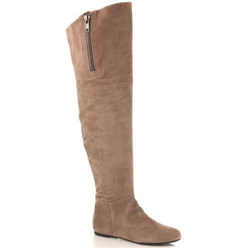 Sam Edelman Taupe James Over the Knee Suede Boots