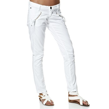 Miss Sixty White Zip Shot Trousers 32