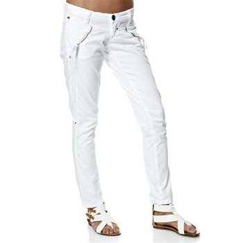 Miss Sixty White Zip Shot Trousers 30