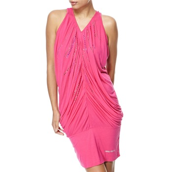 Miss Sixty Fuchsia Trixie Ruched Dress