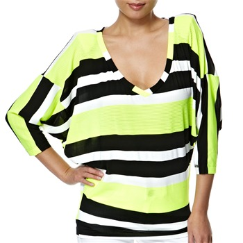 Miss Sixty Yellow/Black Aphexing Neon Top