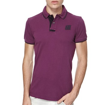 Energie Purple Lacker Textured Polo Shirt