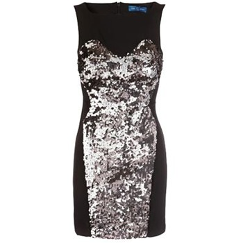 Core Spirit Black Sequin Bodycon Dress