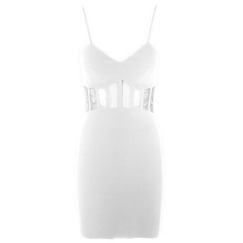 Core Spirit White Bodycon Cut Out Dress