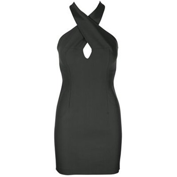 Core Spirit Black Halterneck Bodycon Dress