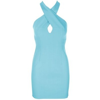 Core Spirit Light Blue Halterneck Bodycon Dress