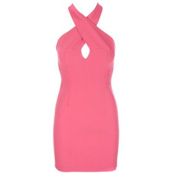 Core Spirit Fuchsia Halterneck Bodycon Dress