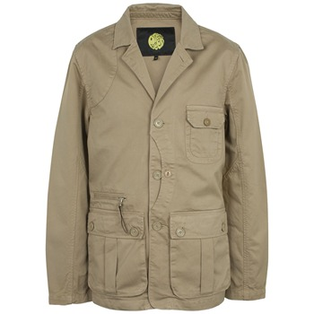 Pretty Green Beige Cotton Poacher Jacket