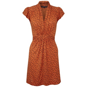 French Connection Orange Penny Paisley Jersey Dress