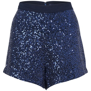 French Connection Blue Mini Sequin Shorts
