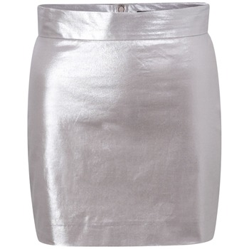 French Connection Silver Sparkle Babs Mini Skirt
