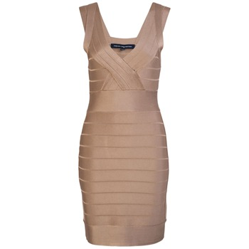 French Connection Pale Gold Spotlight Bodycon Dress