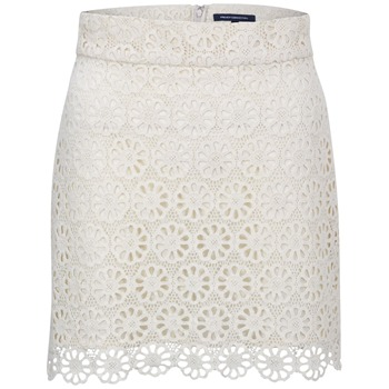 French Connection White Lisella Lace Skirt