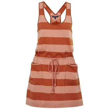 French Connection Red/Pink Stripe Jersey Dress