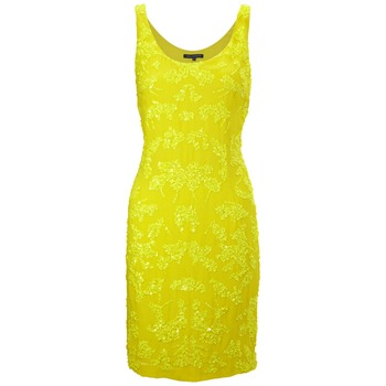 French Connection Yellow Mimosa Mist Mini Dress