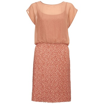 French Connection Burnt Orange Luscious Sequins Dress