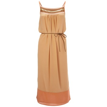 French Connection Orange Chain Gang Silk Dress