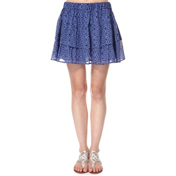 French Connection Blue Pixi Pixels Ra Ra Skirt