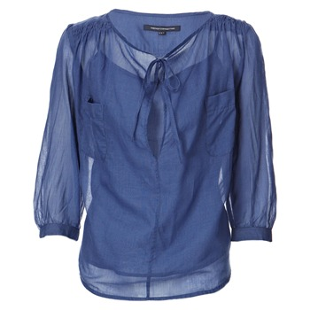 French Connection Blue Lightweight Cotton Shirt