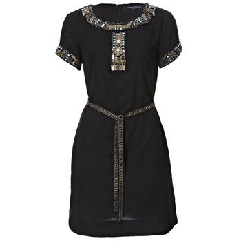 French Connection Black Pappa Jamie Embellished Dress