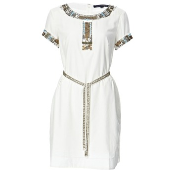 French Connection White Pappa Jamie Embellished Dress