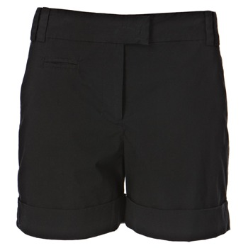 French Connection Black Turned Up Hem Shorts