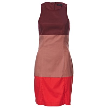 French Connection Red/Multi Colour Block Shift Dress