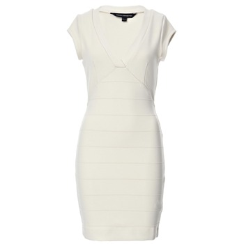 French Connection Cream Rita Rocks Bodycon Dress