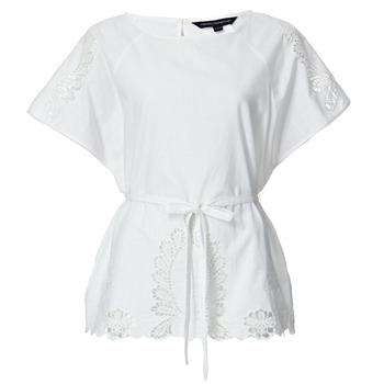French Connection White Tea Time Batwing Top