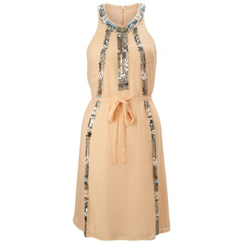 French Connection Nude Rebecca Beaded Dress