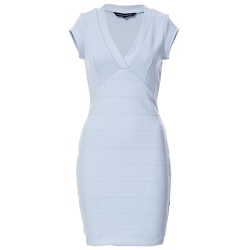 French Connection Light Blue Bodycon Panelled Dress