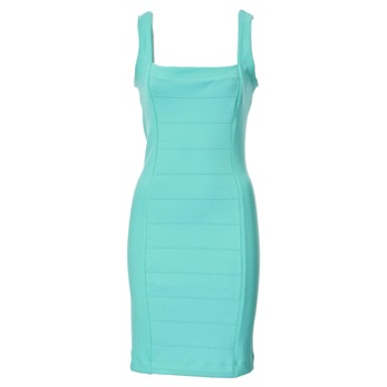 French Connection Green Aqua Bodycon Panelled Dress
