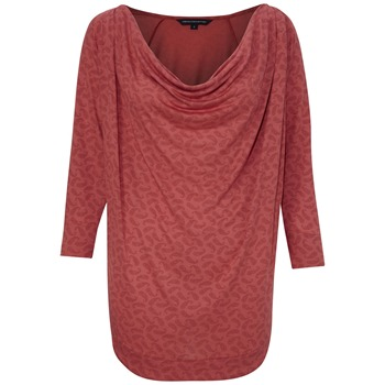 French Connection Red Penny Paisley Cowl Neck Top