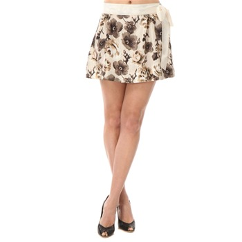Juicy Couture Faded Oyster Floral Silk Skirt