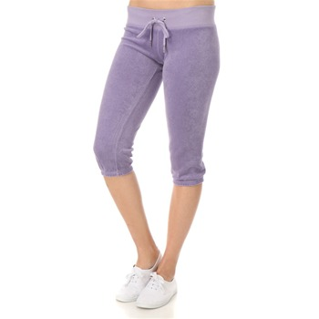 Juicy Couture Pale Violet Cropped Towelling Pants 20