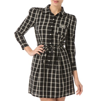 Juicy Couture Black Check Cotton Dress