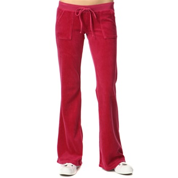 Juicy Couture Lotus Rouge Flared Leg Velour Pants 34