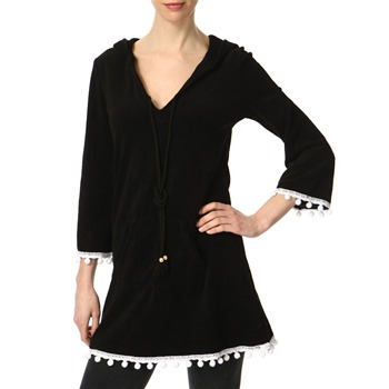 Juicy Couture Black Pompom Trim Dress