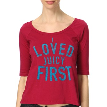 Juicy Couture Lotus Rouge Logo Front Jersey Top