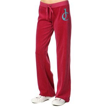 Juicy Couture Lotus Rouge Diamante J C Original Velour Pants 34