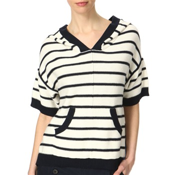 Juicy Couture Cream/Navy Stripe Hooded Jumper