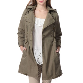 Juicy Couture Olive Green Military Coat