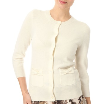 Juicy Couture Cream Bow Detail Wool Cardigan